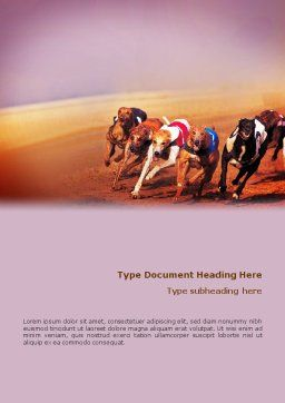 Dog Racing Word Template, Cover Page, 02077, Sports — PoweredTemplate.com