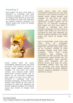 Easter Rabbit Word Template, Second Inner Page, 02078, Holiday/Special Occasion — PoweredTemplate.com