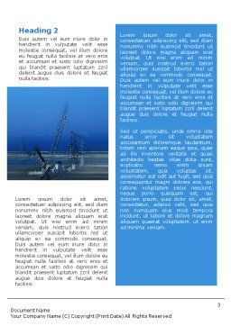 Port Word Template, Second Inner Page, 02081, Utilities/Industrial — PoweredTemplate.com