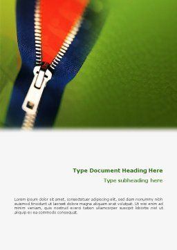 Zipper Word Template Cover Page