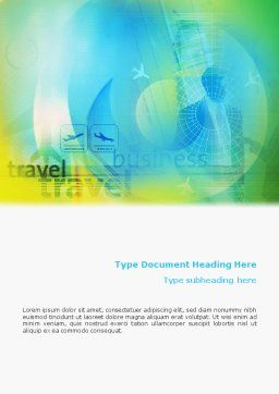 Air Travel Word Template, Cover Page, 02083, Cars/Transportation — PoweredTemplate.com