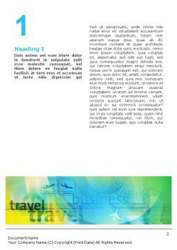 Air Travel Word Template, First Inner Page, 02083, Cars/Transportation — PoweredTemplate.com