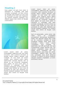 Air Travel Word Template Second Inner Page