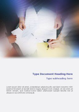 Business Documents Word Template, Cover Page, 02085, Business — PoweredTemplate.com