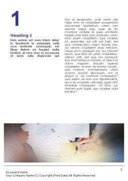 Business Documents Word Template, First Inner Page, 02085, Business — PoweredTemplate.com