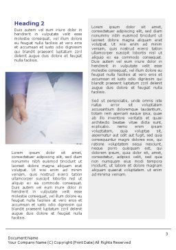 Business Documents Word Template, Second Inner Page, 02085, Business — PoweredTemplate.com