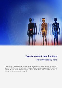 Systems of Body Word Template, Cover Page, 02086, Medical — PoweredTemplate.com