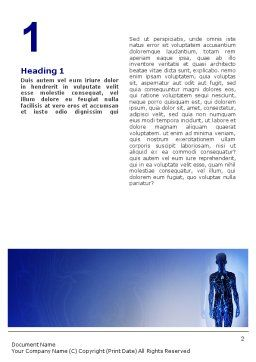 Systems of Body Word Template, First Inner Page, 02086, Medical — PoweredTemplate.com