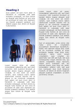 Systems of Body Word Template, Second Inner Page, 02086, Medical — PoweredTemplate.com