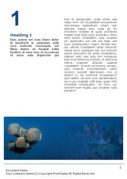 Fishing Life Underwater Word Template, First Inner Page, 02089, Nature & Environment — PoweredTemplate.com