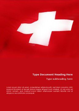 Flag of Switzerland Word Template, Cover Page, 02090, Flags/International — PoweredTemplate.com