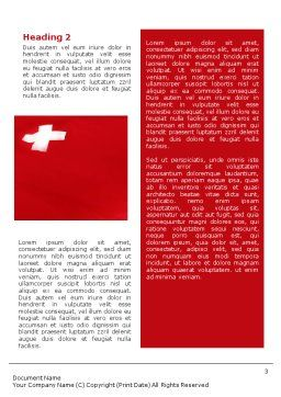 Flag of Switzerland Word Template, Second Inner Page, 02090, Flags/International — PoweredTemplate.com