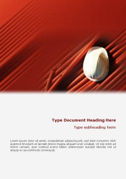 Cabling Word Template, Cover Page, 02095, Construction — PoweredTemplate.com
