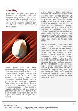 Cabling Word Template, Second Inner Page, 02095, Construction — PoweredTemplate.com