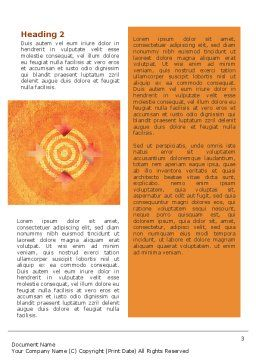 Target Word Template, Second Inner Page, 02098, Business Concepts — PoweredTemplate.com