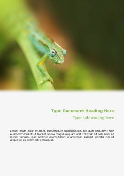 Chameleon Word Template, Cover Page, 02101, Agriculture and Animals — PoweredTemplate.com