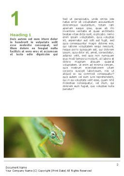 Chameleon Word Template, First Inner Page, 02101, Agriculture and Animals — PoweredTemplate.com