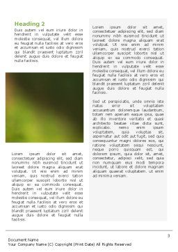 Chameleon Word Template, Second Inner Page, 02101, Agriculture and Animals — PoweredTemplate.com