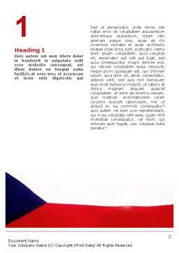 Flag of Czech Republic Word Template First Inner Page