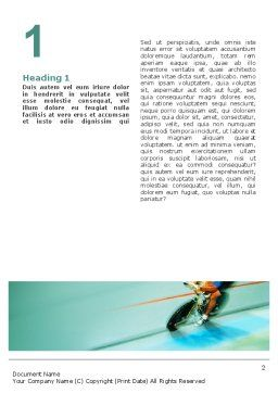 Track Cycling Word Template, First Inner Page, 02103, Sports — PoweredTemplate.com