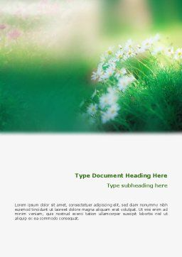 Spring Chamomiles Word Template, Cover Page, 02105, Nature & Environment — PoweredTemplate.com