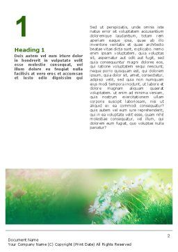 Spring Chamomiles Word Template, First Inner Page, 02105, Nature & Environment — PoweredTemplate.com