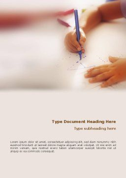 Child Learning Word Template, Cover Page, 02106, Education & Training — PoweredTemplate.com