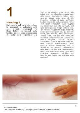 Child Learning Word Template, First Inner Page, 02106, Education & Training — PoweredTemplate.com
