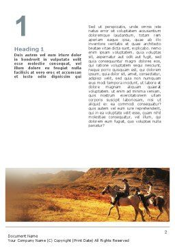 Riding Word Template, First Inner Page, 02108, Agriculture and Animals — PoweredTemplate.com