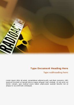 Radioactive Word Template, Cover Page, 02111, Utilities/Industrial — PoweredTemplate.com