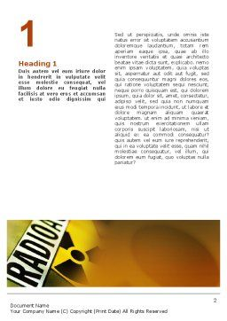 Radioactive Word Template, First Inner Page, 02111, Utilities/Industrial — PoweredTemplate.com