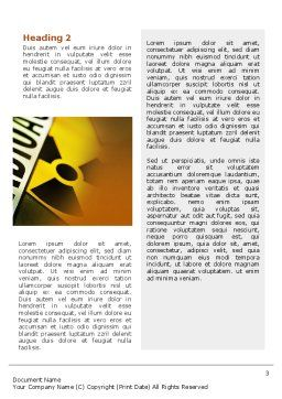 Radioactive Word Template, Second Inner Page, 02111, Utilities/Industrial — PoweredTemplate.com