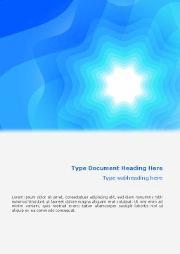 Aqua Colored Word Template, Cover Page, 02112, Abstract/Textures — PoweredTemplate.com