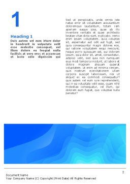 Aqua Colored Word Template, First Inner Page, 02112, Abstract/Textures — PoweredTemplate.com