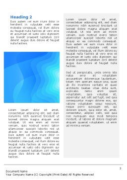 Aqua Colored Word Template, Second Inner Page, 02112, Abstract/Textures — PoweredTemplate.com