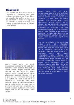 Business Relations In A Corporation Word Template, Second Inner Page, 02114, Business — PoweredTemplate.com