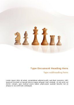 Main Chess Figures Word Template, Cover Page, 02120, Business Concepts — PoweredTemplate.com