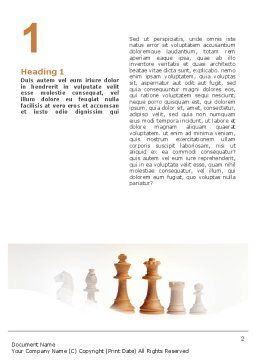 Main Chess Figures Word Template, First Inner Page, 02120, Business Concepts — PoweredTemplate.com