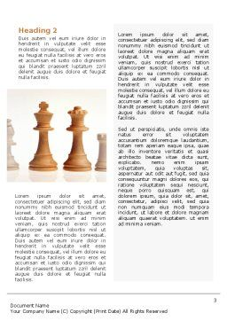 Main Chess Figures Word Template, Second Inner Page, 02120, Business Concepts — PoweredTemplate.com