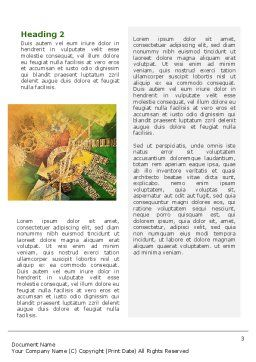 Business Mechanism Word Template, Second Inner Page, 02122, Technology, Science & Computers — PoweredTemplate.com