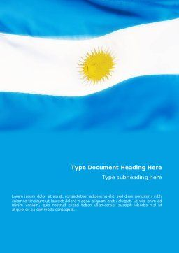 Flag of Argentine Republic Word Template Cover Page