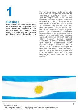 Flag of Argentine Republic Word Template First Inner Page
