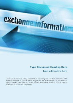 Information Exchange Word Template, Cover Page, 02125, Telecommunication — PoweredTemplate.com