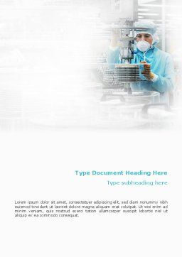 Manufacturing Word Template, Cover Page, 02127, Technology, Science & Computers — PoweredTemplate.com