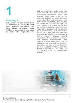 Manufacturing Word Template, First Inner Page, 02127, Technology, Science & Computers — PoweredTemplate.com