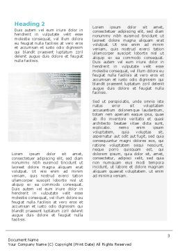 Manufacturing Word Template, Second Inner Page, 02127, Technology, Science & Computers — PoweredTemplate.com