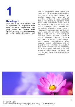 Flower Word Template, First Inner Page, 02128, Nature & Environment — PoweredTemplate.com