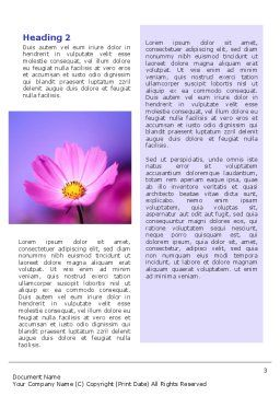 Flower Word Template, Second Inner Page, 02128, Nature & Environment — PoweredTemplate.com