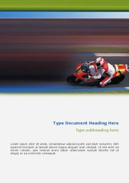 Super Bike Word Template, Cover Page, 02129, Sports — PoweredTemplate.com