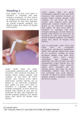 Quit Smoking Word Template, Second Inner Page, 02132, Medical — PoweredTemplate.com